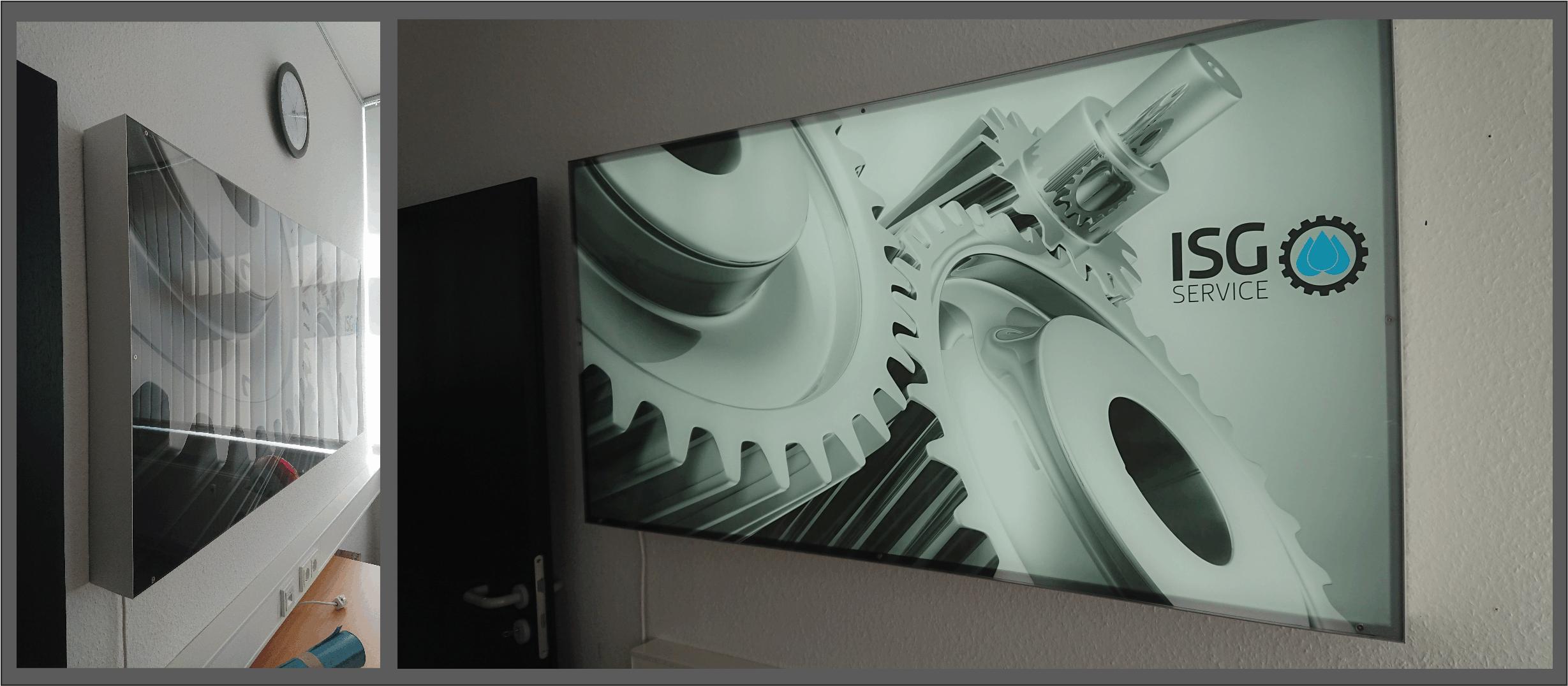 foto auf acrylglas mit beleuchtung. Black Bedroom Furniture Sets. Home Design Ideas